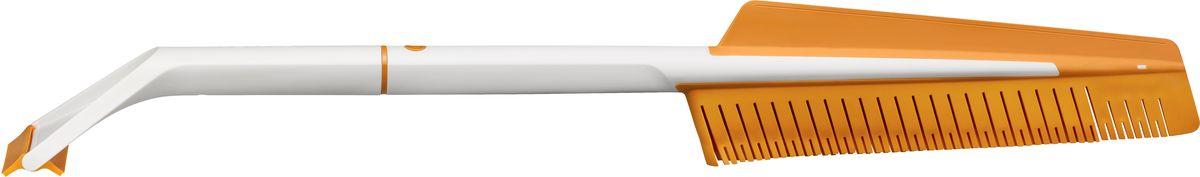 Щетка автомобильная Fiskars SnowXpert, со скребком1019352Благодаря щетке и скребку для льда SnowXpert очистить стекла автомобиля от снега, льда и влаги стало очень просто. Эластичные щетинки не оставляют царапин, а скребок с двойной кромкой позволят вам очистить автомобиль, не повредив поверхность стекла.Скребок с двумя кромками позволяет счищать лед в обоих направлениях. При этом гибкая кромка идеально подходит для очистки изогнутых лобовых стекол.Инновационная двусторонняя щетка с эластичными щетинками мягко очищает стекла автомобиля от снега и влаги, не оставляя царапин.Благодаря разборной конструкции инструмент удобно хранить в машине.