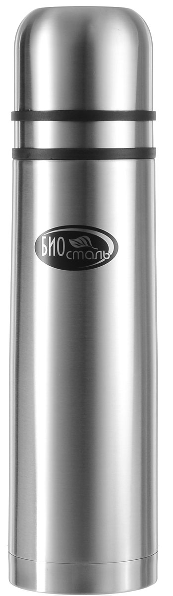 Термос Biostal, с 2 чашками, цвет: серебряный, 1 л термос 0 75 л biostal 750ny 2