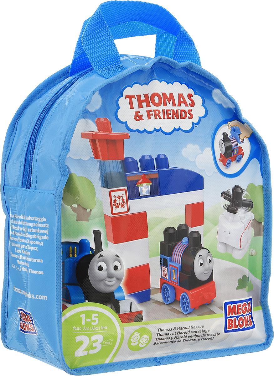Mega Bloks Thomas & Friends Конструктор Спасатели Томас и Хэрольд крючок двойной tatkraft mega lock на вакуумном шурупе