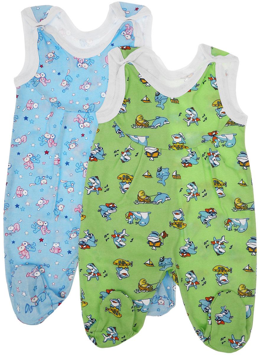 Ползунки с грудкой для мальчика Фреш Стайл, цвет: светло-зеленый, голубой, 2 шт. 33-501м. Размер 5633-501мПолзунки с грудкой для новорожденных Фреш Стайл - важная составляющая бельевого гардероба. Они выполнены из натурального хлопка, очень мягкие, приятные на ощупь и не раздражают нежную кожу ребенка.Комплект состоит из двух изделий: одни ползунки оформлены принтом с котятами, а вторые интересным принтом с дельфинами. Застежки-кнопки на плечиках облегчают процесс одевания-раздевания. Вырез горловины и проймы для ручек обработаны трикотажной бейкой.