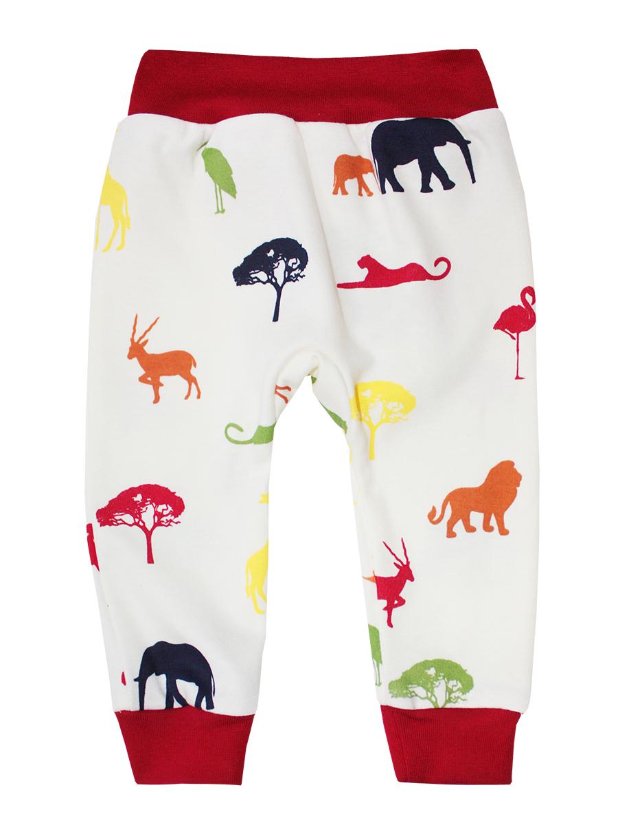 Штанишки КотМарКот Африка, цвет: красный, бежевый. 5876. Размер 92 брюки котмаркот штанишки сердечко