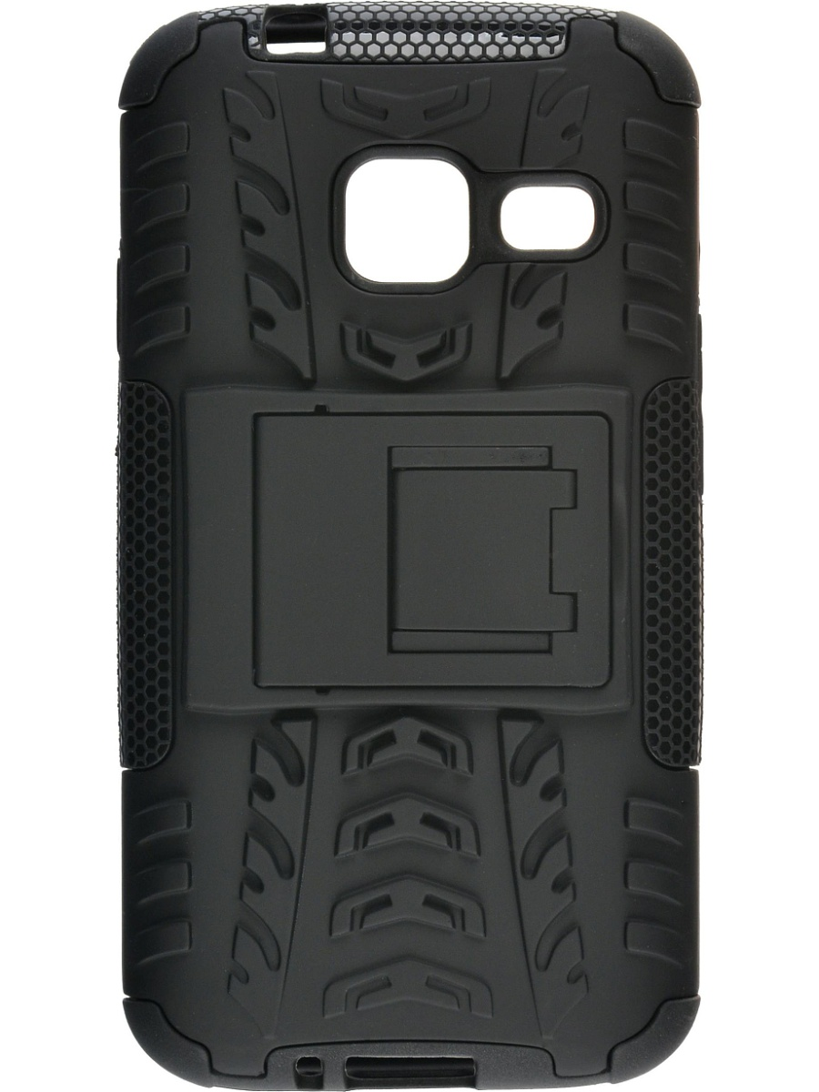 все цены на  Skinbox Defender Case чехол для Samsung Galaxy J1 mini (2016), Black  онлайн