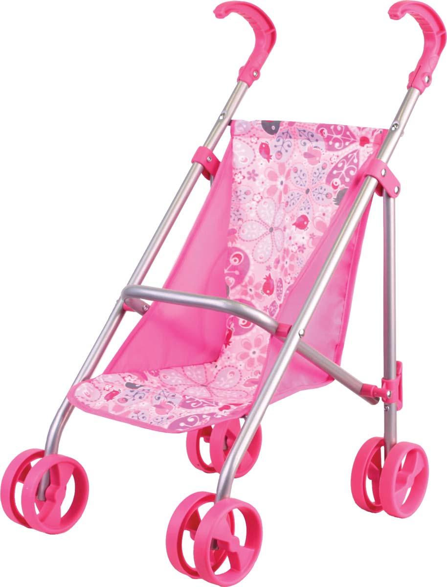 Gulliver Коляска прогулочная классическая для кукол цвет розовый