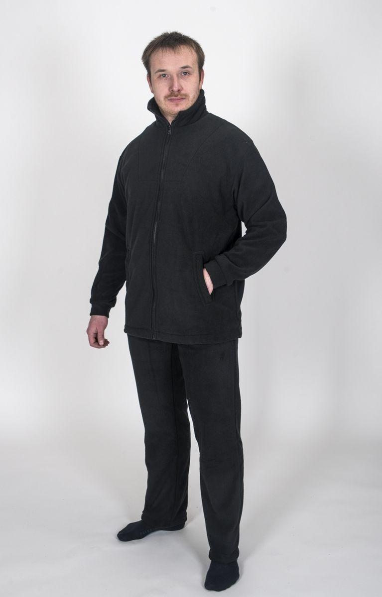 Комплект одежды Fisherman Комфорт: брюки, кофта, цвет: черный. 11445. Размер 54/56КомфортТермокостюм Комфорт - флисовый костюм сочетает в себе преимущества термобелья и спортивного костюма. Можно одевать в качестве термобелья, или в сочетании с ним, под верхнюю одежду, а также использовать как обычные брюки и куртку. Куртка имеет разъемную молнию, высокий воротник и два глубоких кармана. Брюки также имеют два кармана и пояс на широкой резинке. Низ куртки и брюк регулируется при помощи резинки и стопперов. Термокостюм изготавливается из ткани Polar fleece плотностью 300 гр\м2.Polar fleece это: трикотажная ткань с двухсторонним ворсом: особо износоусточивым с наружной стороны - Polar и очень мягким и комфортным с внутренней - fleece. Лучший современный заменитель шерсти, дышащий и не вызывающий аллергии.Основные достоинства и преимущества: высокоэффективная теплозащита; мягкость и комфорт при прикосновении; отлично впитывает влагу и не холодит тело при намокании, как одежда из хлопка; быстро высыхает после намокания - быстрее , чем хлопок или шерсть;не обладает усадкой после стирки; не растягивается и не теряет форму в процессе эксплуатации.
