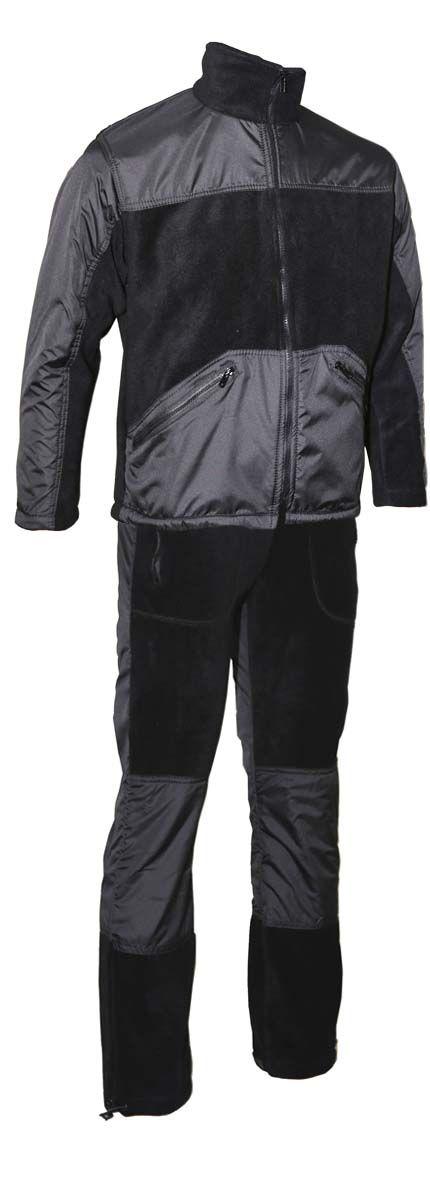 Комплект одежды Vostok Пикник-Люкс: куртка, брюки, цвет: черный. 43981. Размер 44/46Пикник-ЛюксМягкий, теплый, флисовый костюм Пикник-Люкс. Может использоваться для повседневной носки в прохладную погоду. Подходит как для отдыха на природе, так и для домашней носки. Комбинирование двух тканей разного типа делают этот костюм самостоятельной моделью, которую можно носить в сочетании с другими вещами.Куртка имеет высокий воротник-стойку с утяжкой. Застегивается на молнию, дополнена двумя объемными карманами. Модель оформлена утяжкой по низу. Имеются вставки из ткани Taslan для улучшения внешнего вида и усиленияБрюки прямого кроя с широким поясом на резинке с шнуром–утяжкой. Брюки дополнены двумя карманами по бокам. Регулировка ширины низа брюк. Вставки из ткани Taslan в области колена для усиления.Ткань верха: Polar Fleece 270 г/м2.