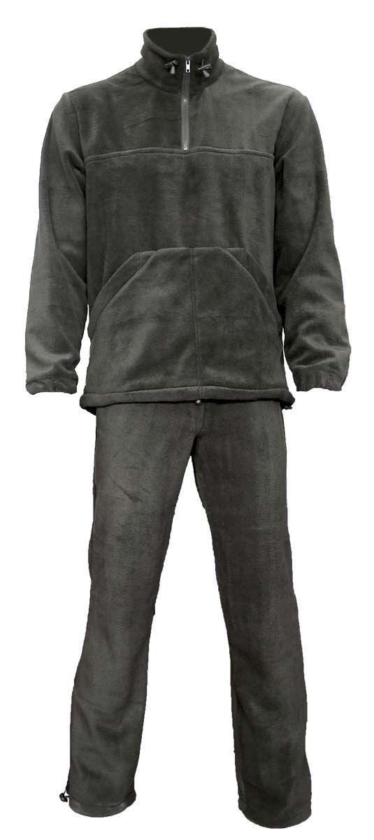 Комплект одежды Vostok Пикник: толстовка, брюки, цвет: черный. 62155. Размер 56/58ПикникКомфортный и мягкий, теплый костюм из флиса. Рекомендуется использовать как для повседневной носки, так и в качестве дополнительного слоя одежды под зимний или демисезонный костюм в холодную погоду.Толстовка типа анорак с высоким воротником-стойкой с утяжкой. Большой карман спереди типа кенгуру По низу толстовки проходит шнурок-утяжка.Брюки прямого кроя с широким поясом на резинке с шнуром - утяжкой. Имеется регулировка ширины низа брюк. Ткань верха: Polar Fleece 270 г/м2.