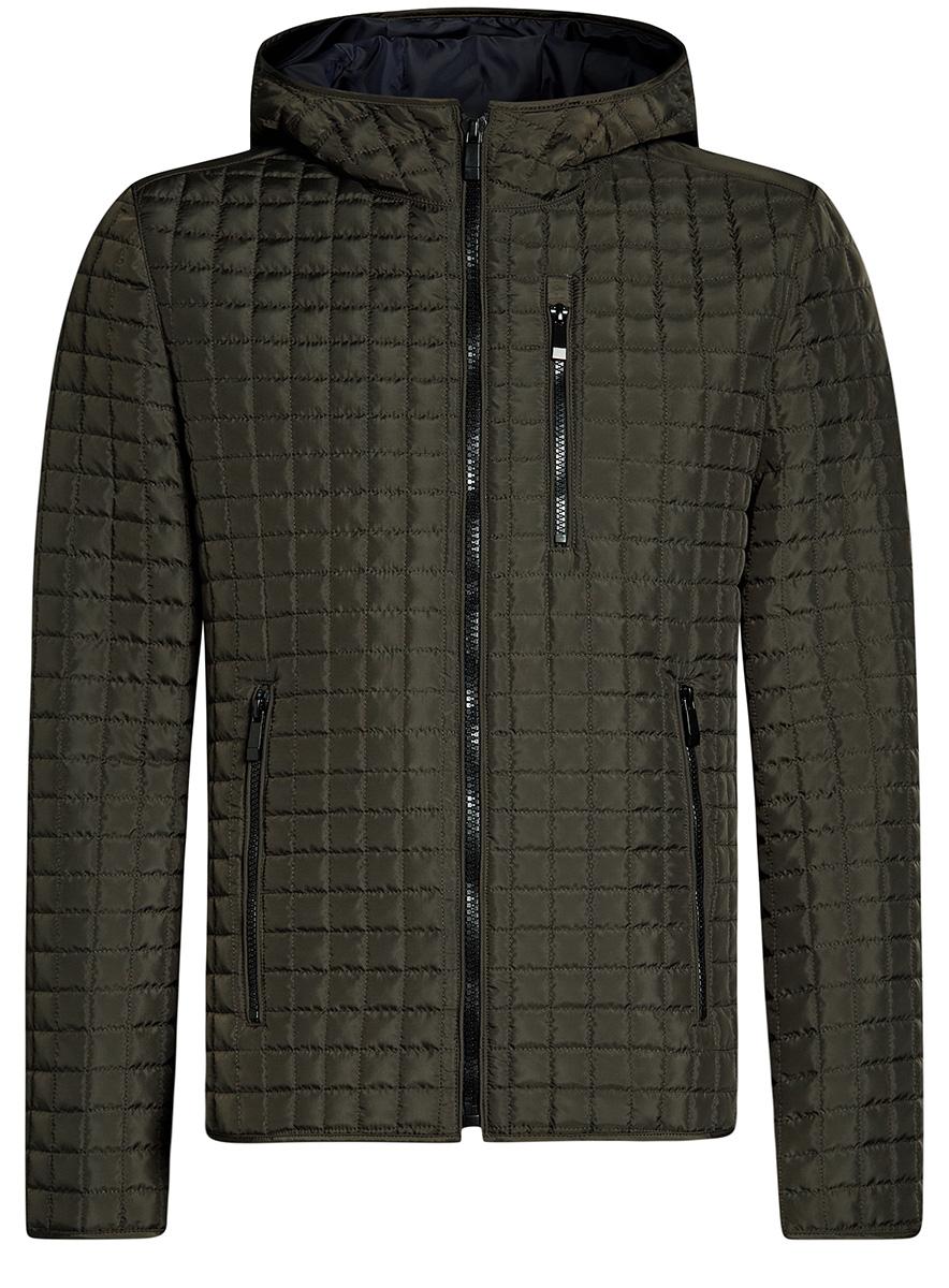 Купить Куртка мужская oodji Basic, цвет: хаки. 1B112007M/46376N/6600N. Размер M-182 (50-182)