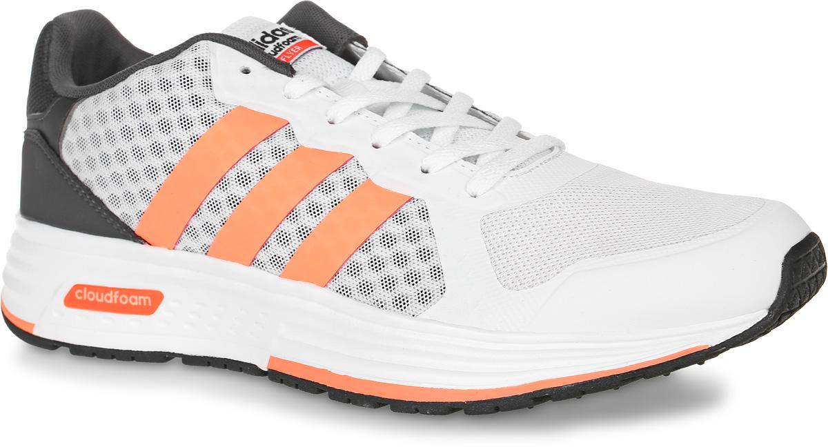 Кроссовки женские adidas Neo Cloudfoam Flyer, цвет: белый, темно-серый, оранжевый. B74726. Размер 5,5 (37,5)B74726Женские кроссовки adidas Neo Cloudfoam Flyer выполнены из сетчатого текстиля и искусственной кожи. Модель оформлена фирменными накладками из полимера. Шнурки надежно зафиксируют модель на ноге. Внутренняя поверхность из сетчатого текстиля комфортна при движении. Стелька выполнена из легкого ЭВА-материала с поверхностью из текстиля. Подошва изготовлена из высококачественной легкой резины и оснащена технологией Cloudfoam для поглощения ударных нагрузок и комфортной посадки без разнашивания. Поверхность подошвы дополнена рельефным рисунком.