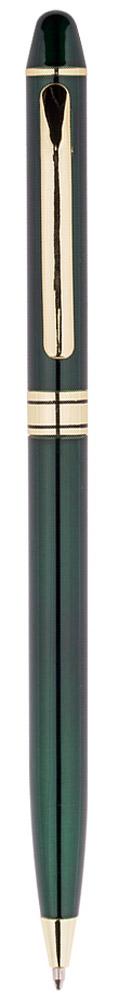 Berlingo Ручка шариковая Golden Premium цвет корпуса зеленыйCPs_70134Изящная тонкая автоматическая шариковая ручка Berlingo Golden Premium с поворотным механизмом. Диаметр пишущего узла - 0,7 мм. Цвет чернил - синий. Подходит для нанесения логотипа. Ручка упакована в индивидуальный пластиковый футляр.