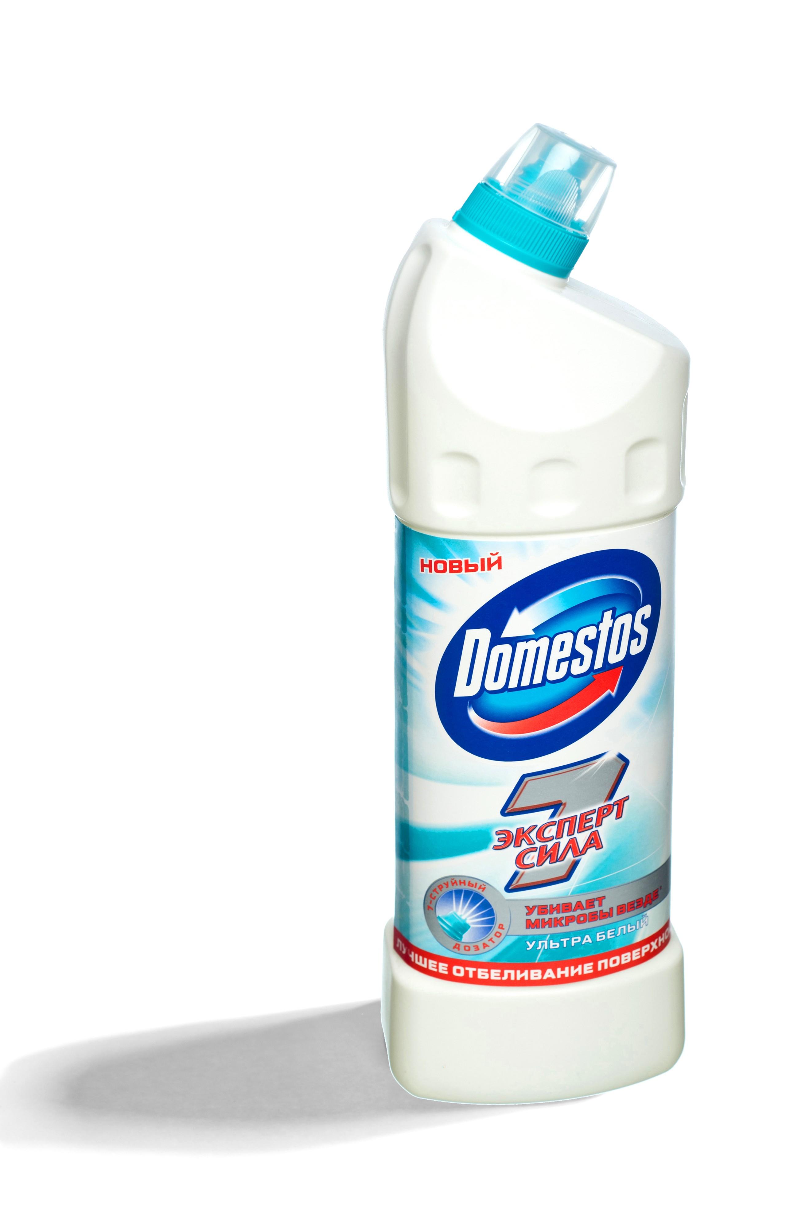 Domestos Средство чистящее для унитаза Ультра Белый  – это эффективное чистящее средство, которое уничтожает микробы во всем доме для защиты вашей семьи.  Благодаря особой формуле с дезинфицирующим эффектом и чистящими компонентами Domestos убивает все известные микробы, максимально отчищает