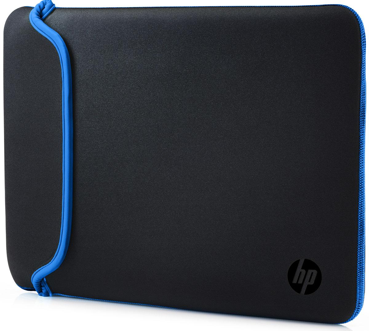 HP Neoprene Sleeve чехол для ноутбука 14, Black Blue (V5C27AA)1000398660Поместите свой ноутбук в этот яркий и надежный цветной чехол HP Neoprene Sleeve. Этот прочный неопреновый чехол защищает ваш ПК от внешних воздействий, ударов и царапин. Аксессуар выполнен из двустороннего материала, так что вы в любой момент можете изменить его цвет.