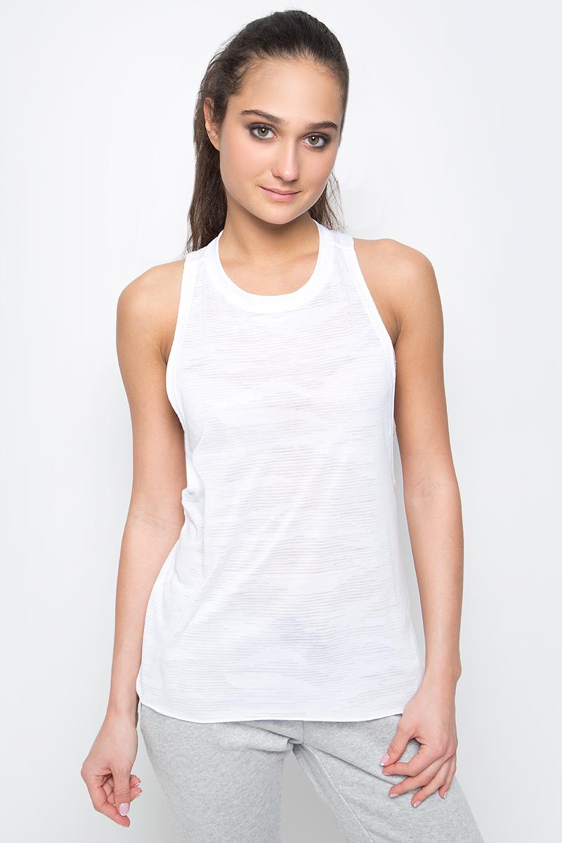 Майка для фитнеса женская adidas Box Tank Aerokn, цвет: белый. BK2641. Размер XL (52/54)