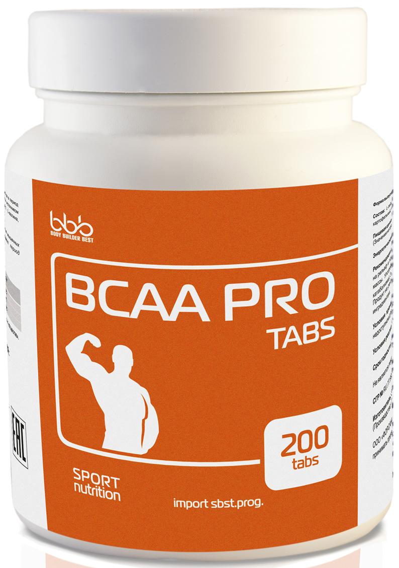 Комплекс аминокислот bbb ВСАА Pro Tabs, 200 таблеток