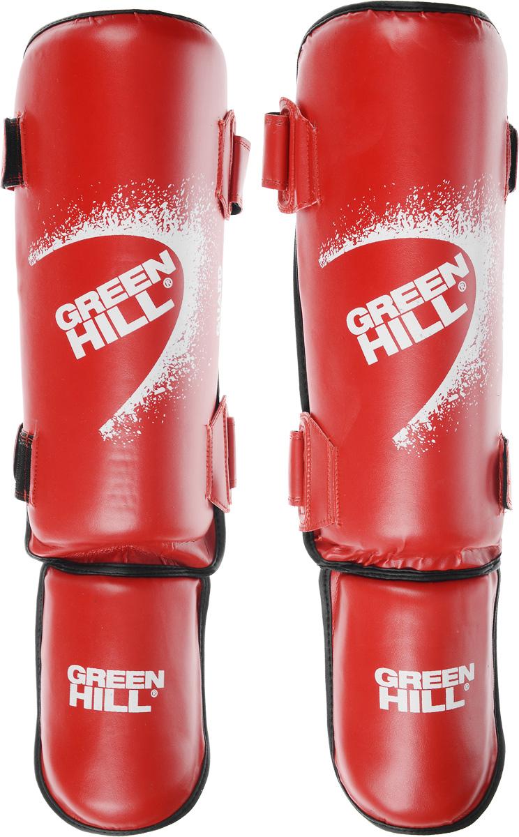 Защита голени и стопы Green Hill Guard, цвет: красный, белый. Размер L. SIG-0012 защита голени и стопы green hill цвет белый размер xl sis 0048
