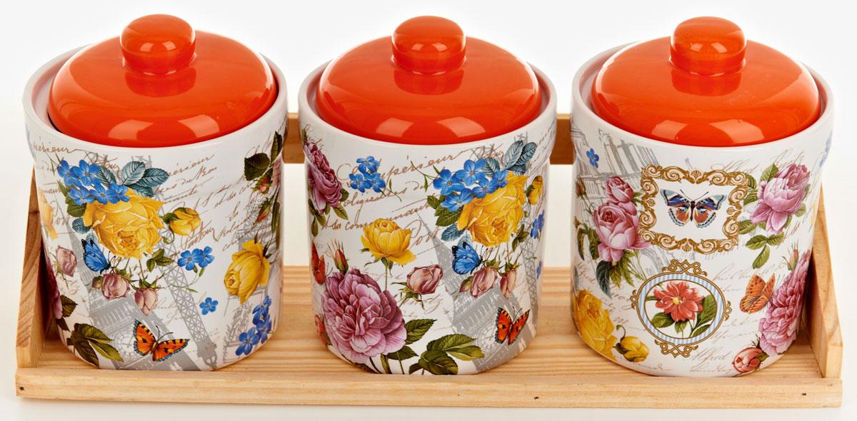 Набор банок для сыпучих продуктов Polystar Джем, 4 предмета набор для специй polystar harmony 4 предмета