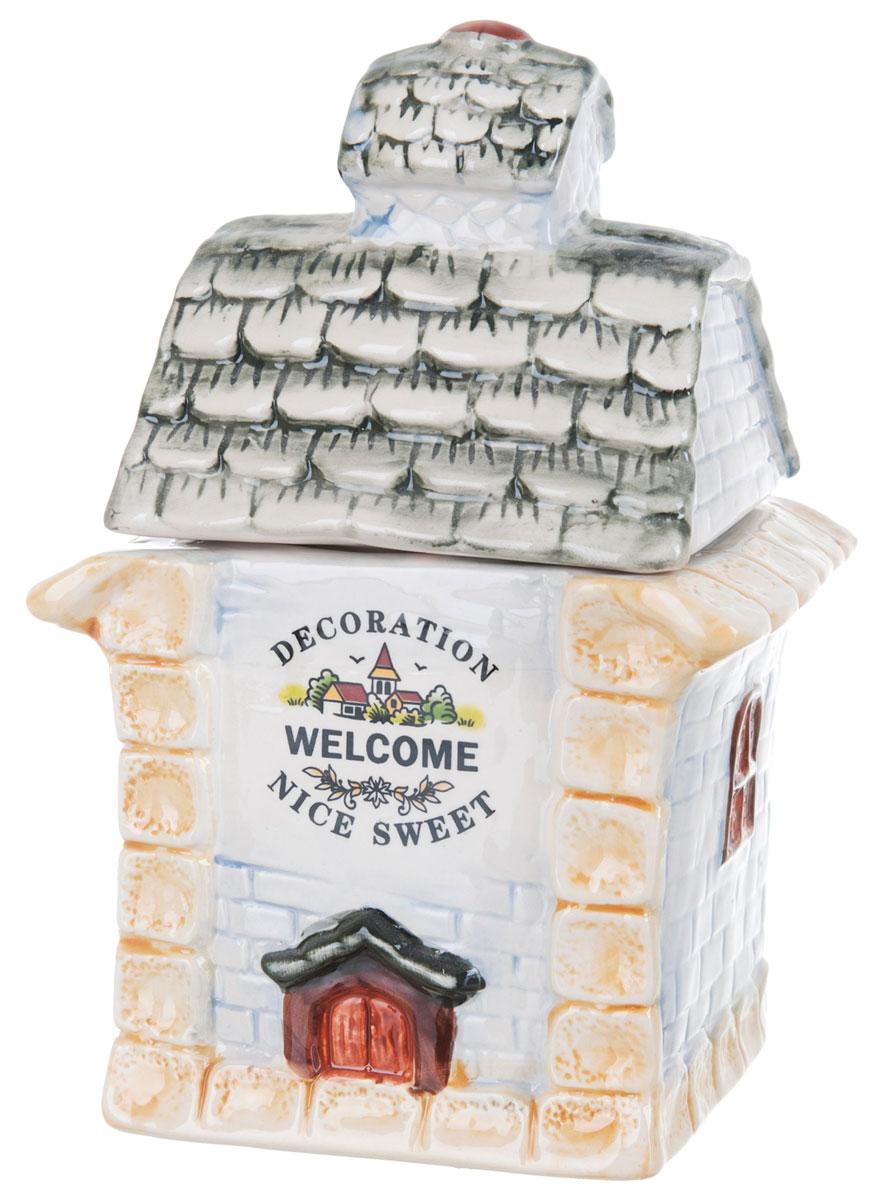 Банка для сыпучих продуктов ENS Group Дом, милый дом, 1 л0790028Банка для сыпучих продуктов ENS Group Дом, милый дом, изготовлена из высококачественной керамики. Изделие оформлено красочным изображением. Банка прекрасно подойдет для хранения различных сыпучих продуктов: чая, кофе, сахара, круп и многого другого. Изящная емкость не только поможет хранить разнообразные сыпучие продукты, но и стильно дополнит интерьер кухни.