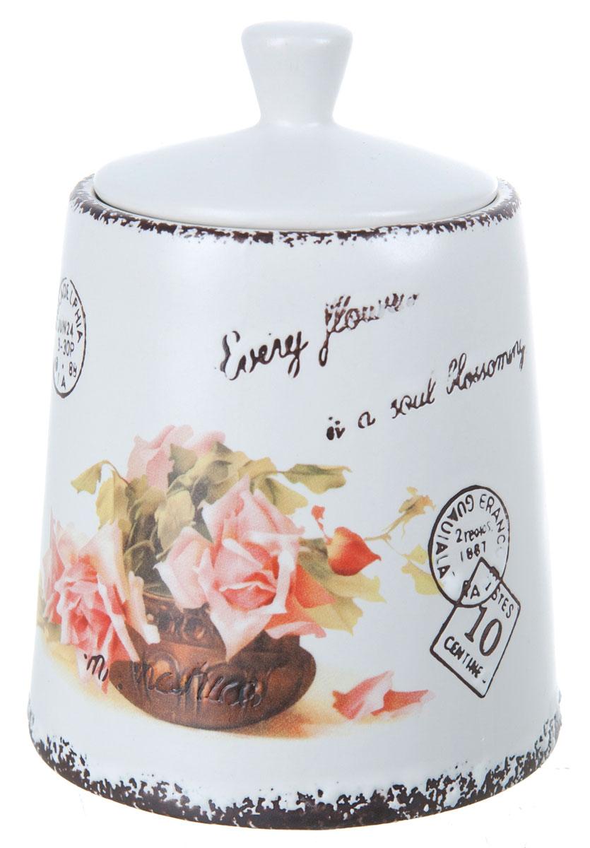 Банка для сыпучих продуктов ENS Group Чайная роза, 800 мл ens group банка для сыпучих персиковая роза 11х15 см