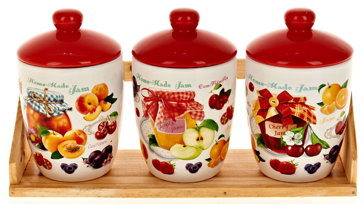 Набор банок для сыпучих продуктов Polystar Орнамент, 4 предмета набор банок для сыпучих продуктов polystar орнамент 4 предмета l2520358