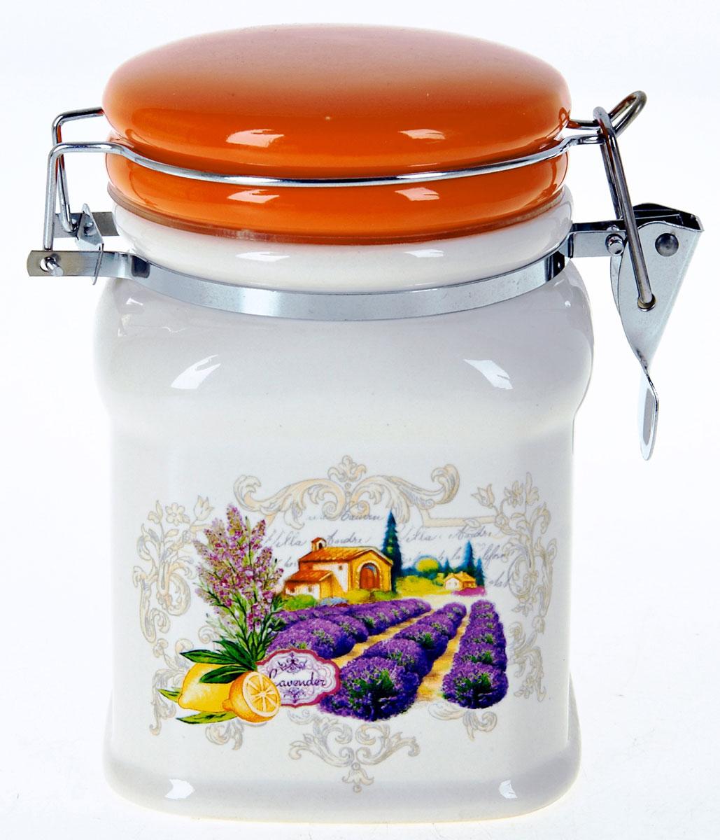 Банка для сыпучих продуктов Polystar Прованс, 650 мл банка для сыпучих продуктов polystar sweet home 850 мл