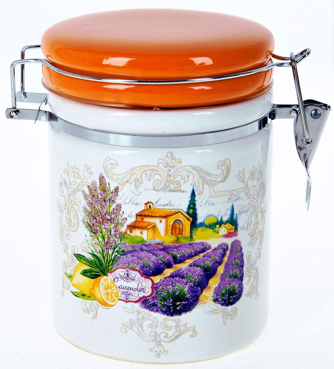 Банка для сыпучих продуктов Polystar Прованс, 850 мл банка для сыпучих продуктов polystar sweet home 850 мл