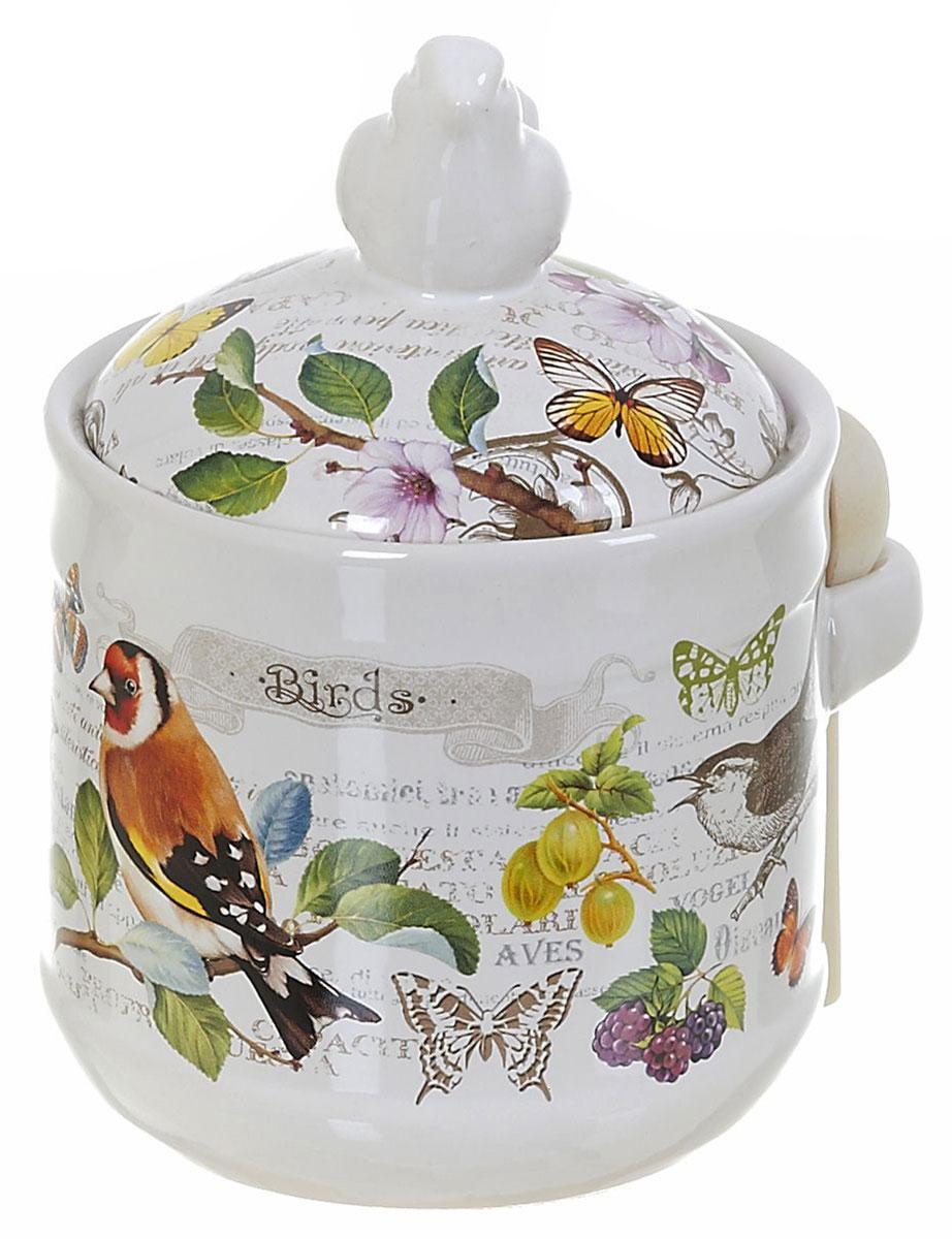 Банка для сыпучих продуктов Polystar Birds, с ложкой, 750 мл банка для сыпучих продуктов polystar подсолнух 800 мл