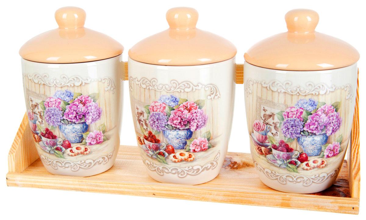 Набор банок для сыпучих продуктов Polystar Sweet Home, 4 предмета набор для специй polystar harmony 4 предмета