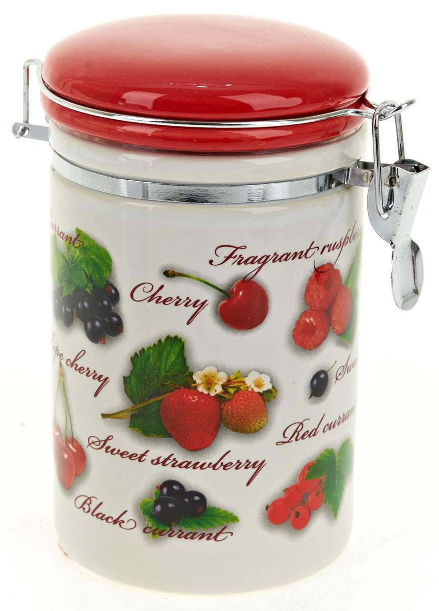 Банка для сыпучих продуктов Polystar Садовая ягода, 800 мл банка для сыпучих продуктов polystar sweet home 850 мл