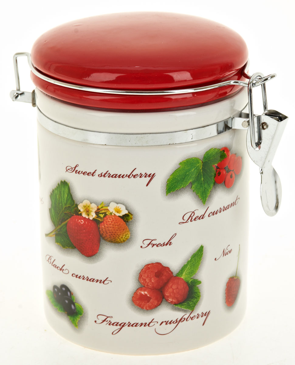 Банка для сыпучих продуктов Polystar Садовая ягода, 600 мл банка для сыпучих продуктов polystar sweet home 850 мл