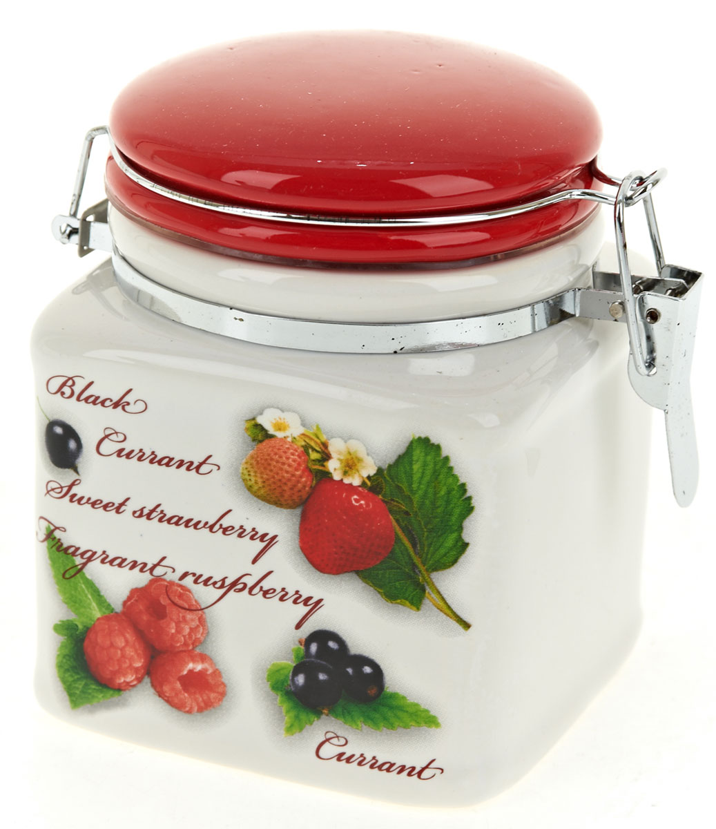 Банка для сыпучих продуктов Polystar Садовая ягода, 500 мл банка для сыпучих продуктов polystar sweet home 850 мл