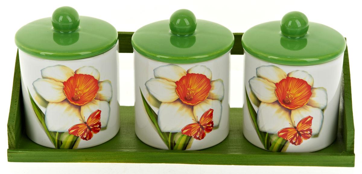 Набор банок для сыпучих продуктов Polystar Нарцисс, 4 предмета. L2520319 polystar кружка романс 310 мл