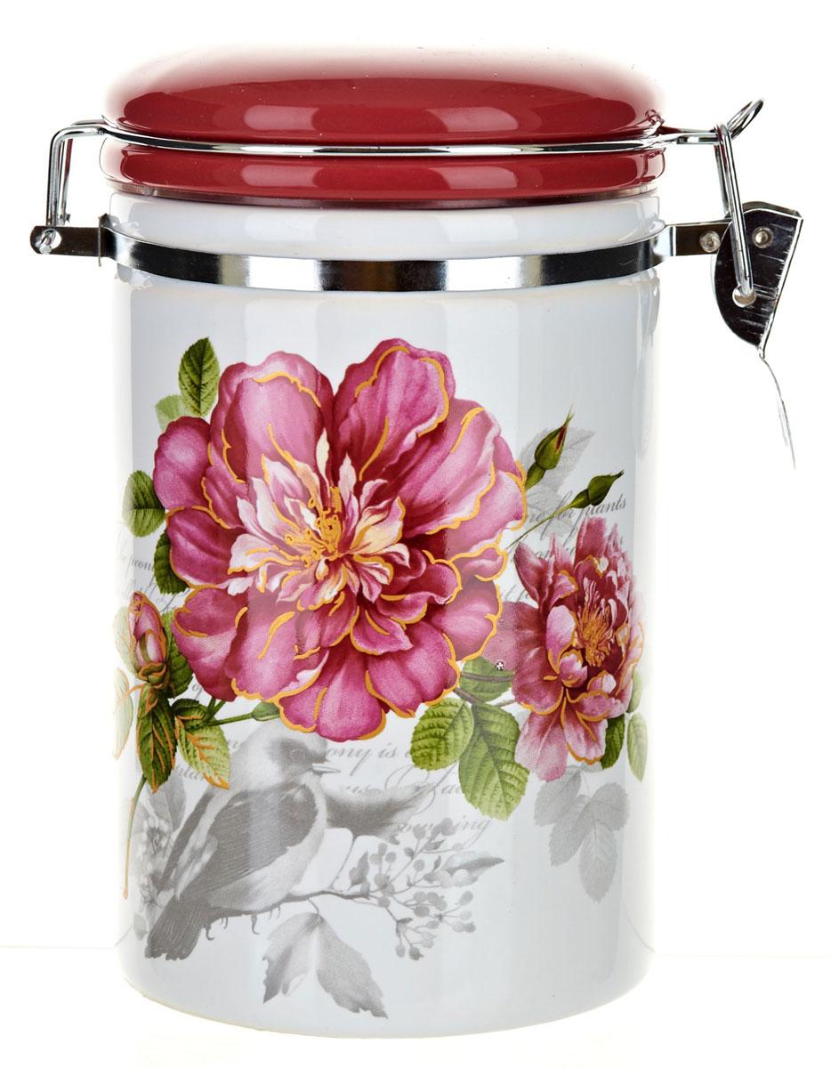 Банка для сыпучих продуктов Polystar Райский сад, 800 мл. L2520363L2520363Банка для сыпучих продуктов изготовлена из прочной доломитовой керамики, покрытой слоем сверкающей гладкой глазури. Изделие оформлено красочным изображением. Банка прекрасно подойдет для хранения различных сыпучих продуктов: чая, кофе, сахара, круп и многого другого. Благодаря силиконовой прослойке и бугельному замку, крышка герметично закрывается, что позволяет дольше сохранять продукты свежими. Изящная емкость не только поможет хранить разнообразные сыпучие продукты, но и стильно дополнит интерьер кухни. Изделие подходит для использования в посудомоечной машине и в холодильнике.Объем: 800 мл.