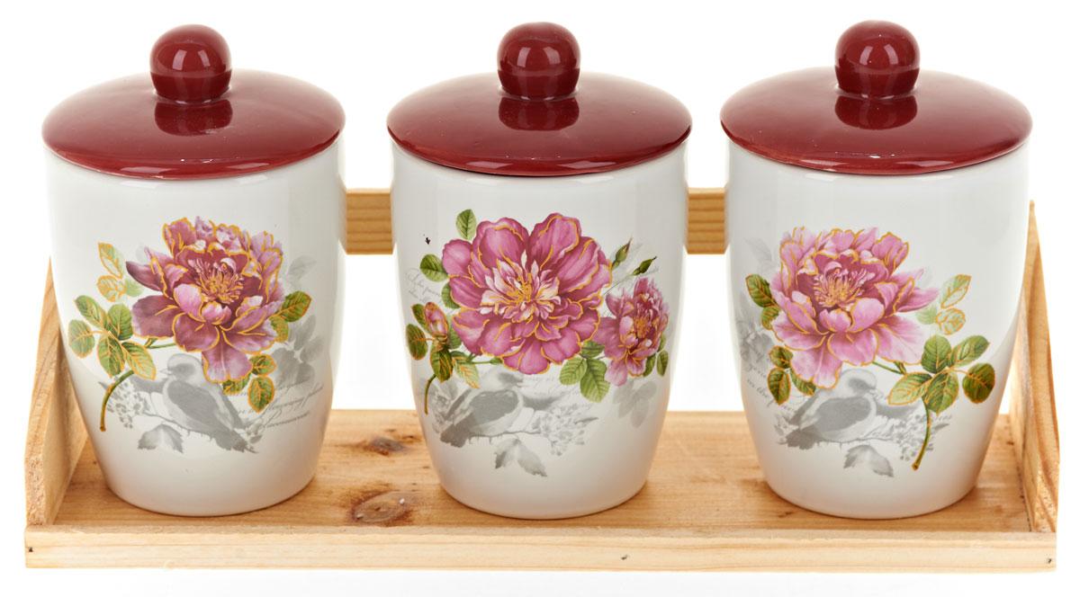 Набор банок для сыпучих продуктов Polystar Райский сад, 4 предмета набор для специй polystar harmony 4 предмета
