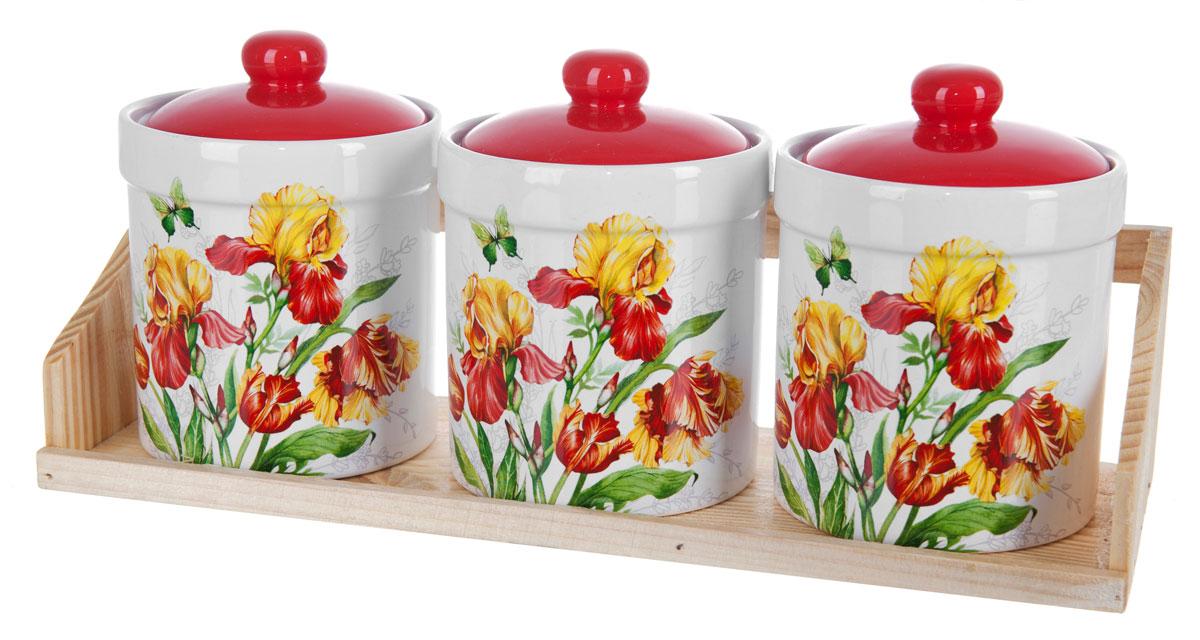 Набор банок для сыпучих продуктов Polystar Касатик, 4 предмета набор для специй polystar harmony 4 предмета