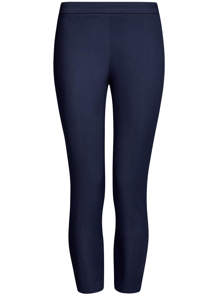 Брюки женские oodji Ultra, цвет: темно-синий. 11703095/33574/7900N. Размер 44-170 (50-170) брюки женские oodji ultra цвет темно синий 11703094 45859 7900n размер 42 170 48 170