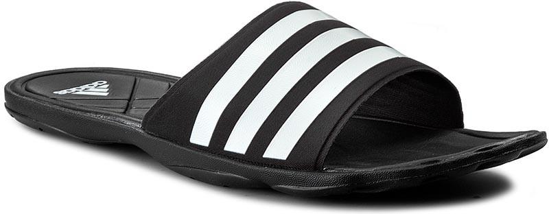Шлепанцы мужские adidas Adipure Cf, цвет: черный. AQ3936. Размер 12 (46)AQ3936Шлепанцы мужские выполнены с цельным верхом из синтетических материалов. Мягкая быстросохнущая стелька cloudfoam и резиновая подошва. Имеется логотип adidas на промежуточной подошве и подметке.