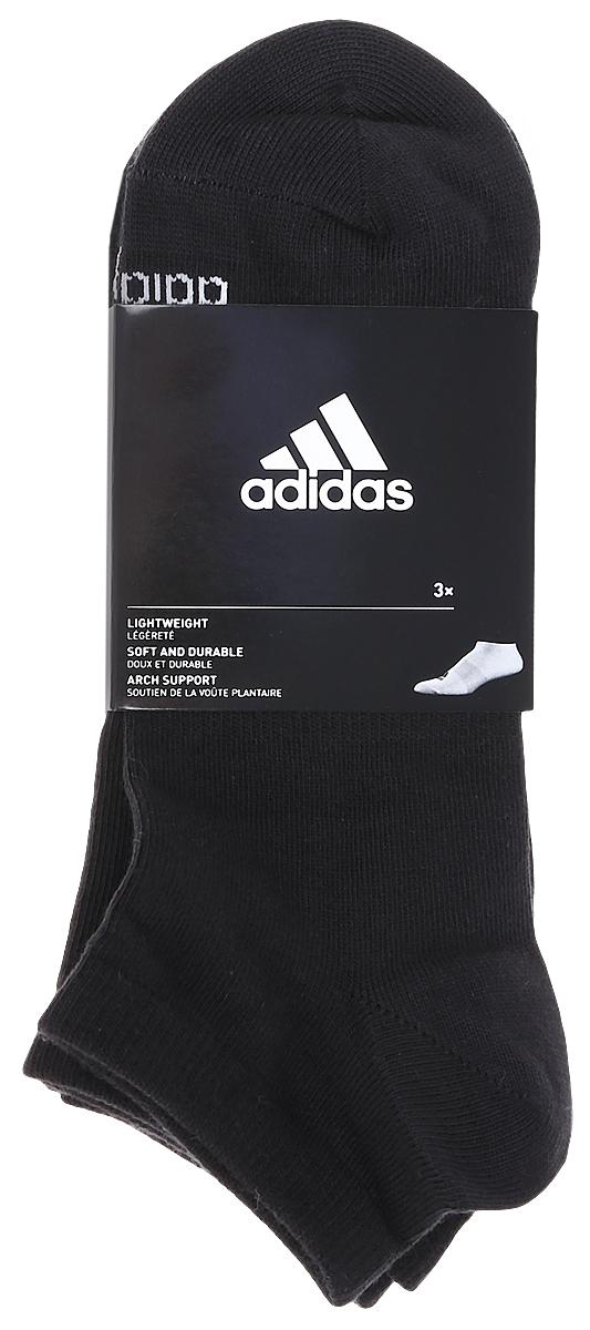 Носки adidas Per No-Sh T, цвет: черный, 3 пары. AA2312. Размер 35/38AA2312Носки adidas Per No-Sh T изготовлены из высококачественного эластичного хлопка с добавлением полиэстера. Укороченныеноски с поддержкой стопы имеют эластичную резинку, которая надежно фиксирует носки на ноге. В комплект входят 3 пары носков, оформленных логотипом бренда adidas.