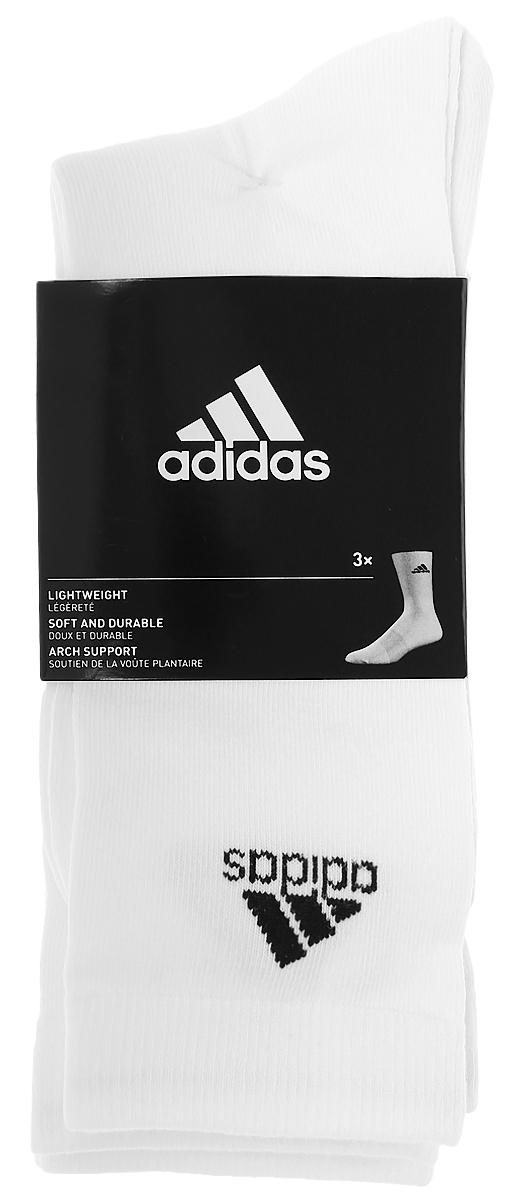Носки adidas Per Crew T, цвет: белый, 3 пары. AA2329. Размер 43/46AA2329Носки adidas Per Crew T изготовлены из высококачественного эластичного хлопка с добавлением полиэстера. Удлиненные носки с укрепленным сводом стопы имеют эластичную резинку, которая надежно фиксирует носки на ноге. В комплект входят 3 пары носков.