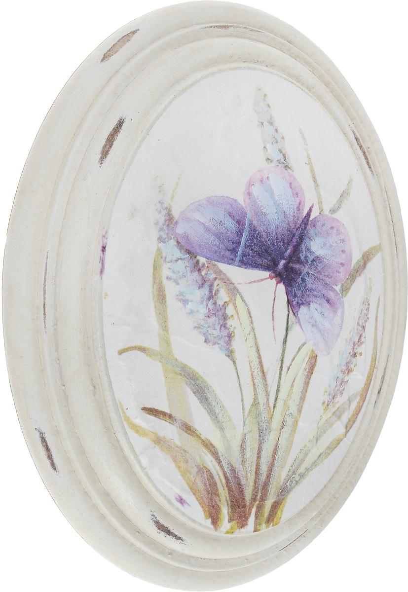 Картина-репродукция Феникс-Презент Сиреневая бабочка, 17 х 22,5 х 3,8 см