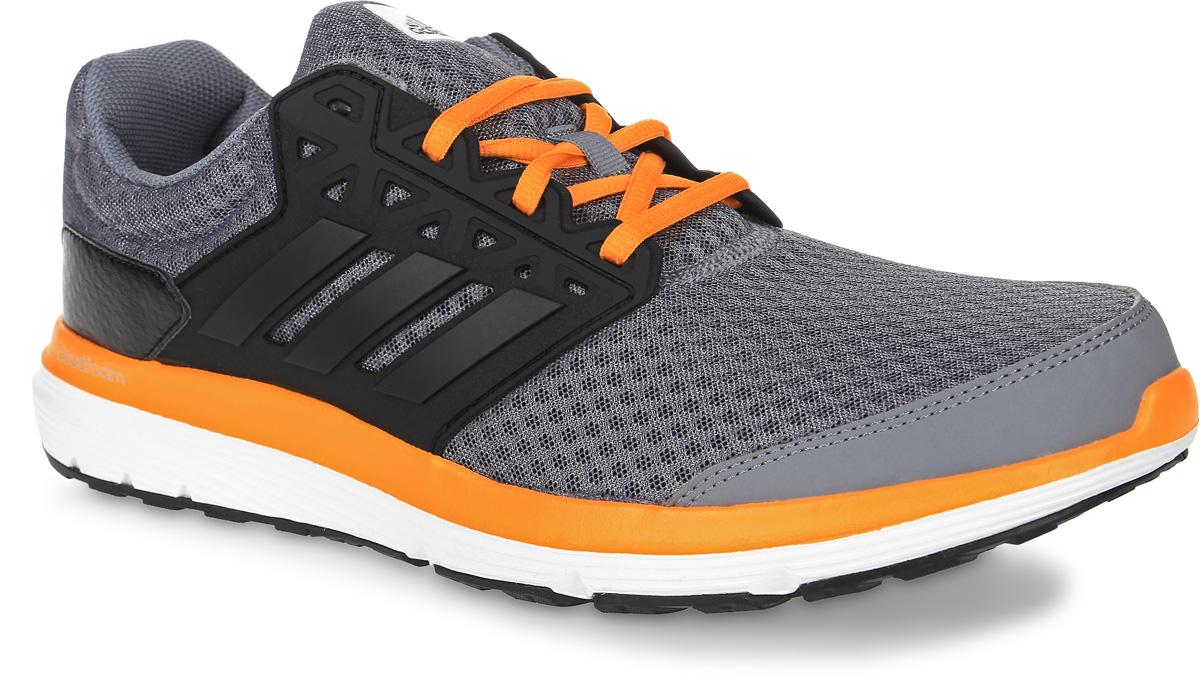 Кроссовки для бега мужские adidas Galaxy 3.1, цвет: серый, черный, оранжевый. BB3189. Размер 10,5 (44)BB3189Мужские кроссовки для бега adidas Galaxy 3.1, выполненные из сетчатого текстиля и кожи, оформлены фирменными нашивками. Шнурки надежно зафиксируют модель на ноге. Внутренняя поверхность из текстиля комфортна при движении. Стелька выполнена из легкого ЭВА-материала с поверхностью из текстиля. Подошва изготовлена из высококачественной легкой резины и оснащена технологией Cloudfoam для поглощения ударных нагрузок и комфортной посадки без разнашивания. Поверхность подошвы дополнена рельефным рисунком.