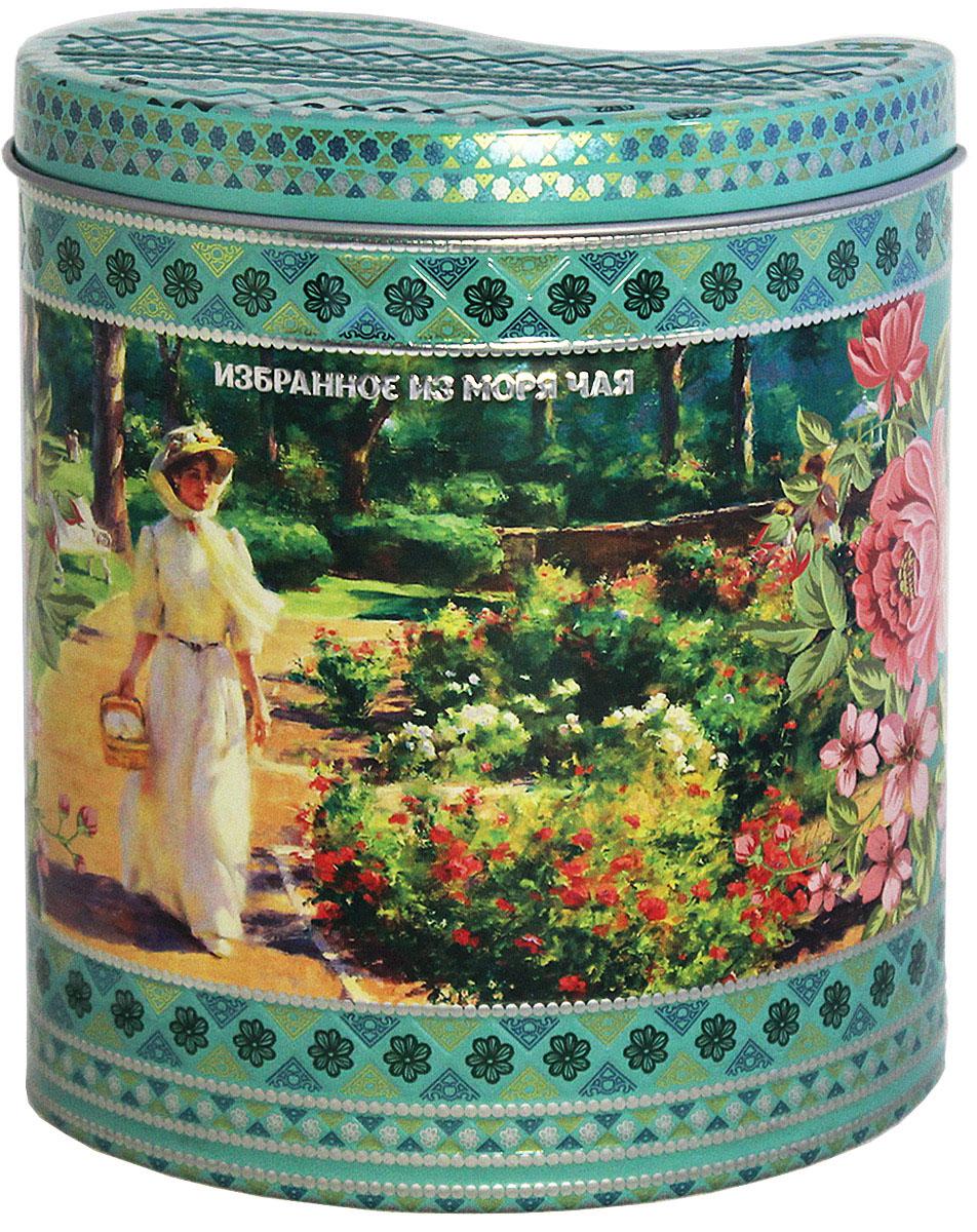 Избранное из моря чая Коллекция Грезы любви. Зеленая чай зеленый листовой, 75 г4791029012018Жестяная банка в форме капли корпус и крышка с элементами конгрева, покрыта матовым лаком. В состав входят только самые молодые и лучшие листочки чайного куста. Поэтому этот чай имеет особый мягкий сладковатый вкус и аромат настоящего зеленого чая и оказывает благотворное влияние на организм. Знак в виде Льва с 17 пятнышками на шкуре - это гарантия Бюро Цейлонского Чая на соответствие чая высокому стандарту качества, установленному Правительством и упакованному только в пределах Шри-Ланки.
