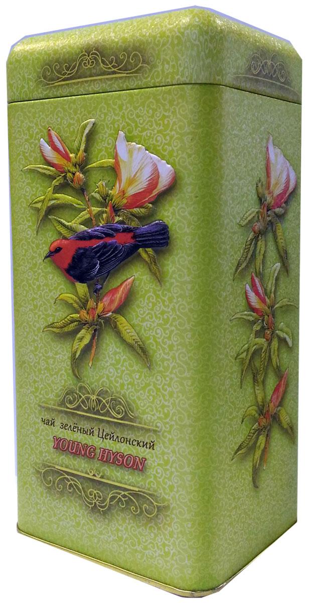 Птицы Цейлона Young Hyson чай черный листовой, 150 г4606471233020100% цейлонский листовой байховый зеленый чаЙ.Стандарт: Young Hyson. У чая светлый и прозрачный настой, а вкус нежный, и немного сладковатый.Знак в виде Льва с 17 пятнышками на шкуре - это гарантия Бюро Цейлонского Чая на соответствие чая высокому стандарту качества, установленному Правительством и упакованному только в пределах Шри-Ланки. Внутри банки 10 наклеек с названиями сыпучих продуктов для повторного использования банки в хозяйстве.