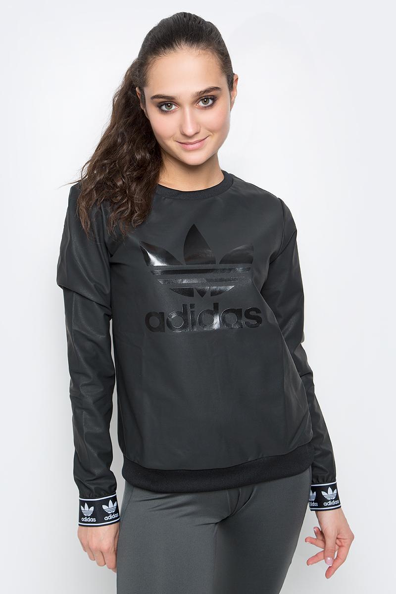 Свитшот женский adidas Crew Sweater, цвет: черный. BJ8291. Размер 32 (40/42) свитшот insight rebel yell crew midnight oil