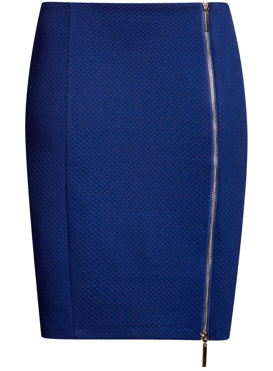 Юбка oodji Ultra, цвет: синий. 14101080-1/42408/7501N. Размер XS (42) пуловеры oodji пуловер