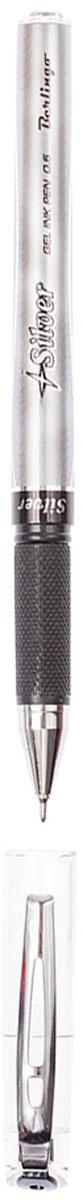 Berlingo Ручка гелевая Silver чернаяCGp_50161Необычный дизайн корпуса гелевой ручки Berlingo Silver привлекает внимание. Цвет деталей корпуса соответствует цвету чернил. Диаметр пишущего узла - 0,5 мм. Ручка с колпачком и клипом удобна в обращении.