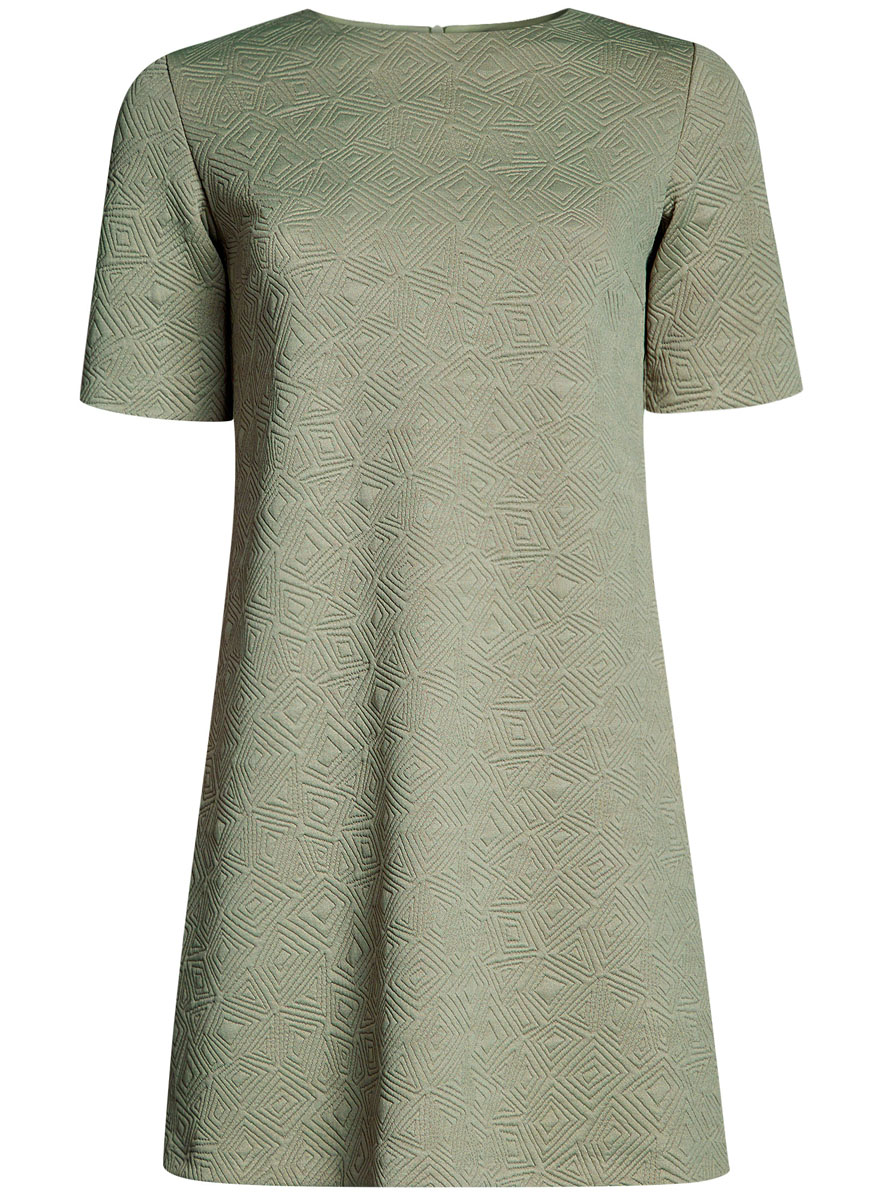 Платье oodji Collection, цвет: светло-зеленый. 24001110-4/46432/6000N. Размер S (44-170)