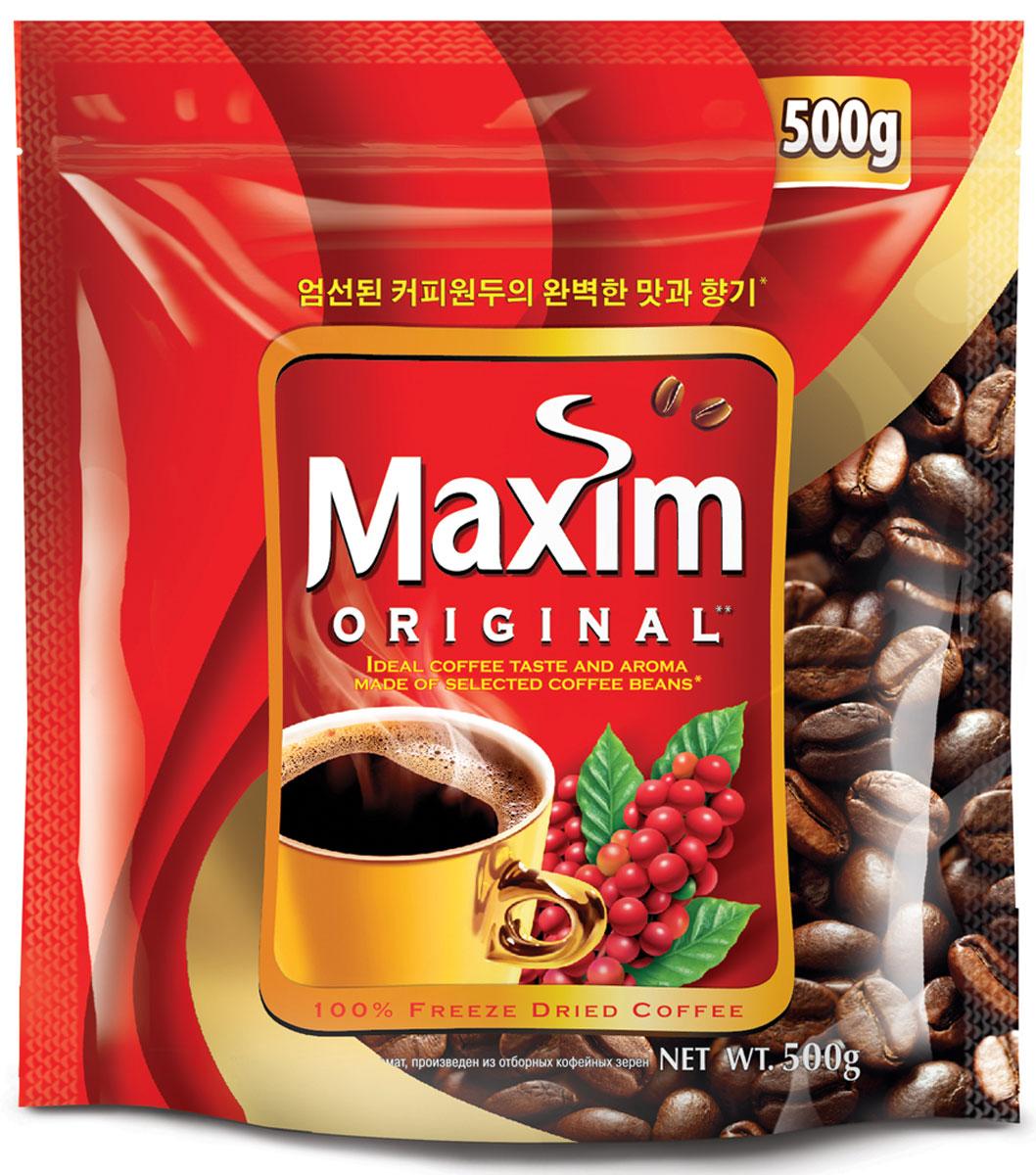 Maxim кофе натуральный растворимый сублимированный, 500 г кофе черный парус сублимированный 85г
