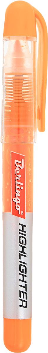 Berlingo Текстовыделитель цвет оранжевыйBTt_00213Текстовыделитель Berlingo - это незаменимый маркер с флуоресцентными жидкими чернилами на водной основе.Длина непрерывной линии до 200 метров. Толщина линии от 1 до 4 мм. Удобный тонкий корпус. Прозрачный корпус помогает контролировать расход чернил. Цвет колпачка и торцевого элемента соответствует цвету чернил.