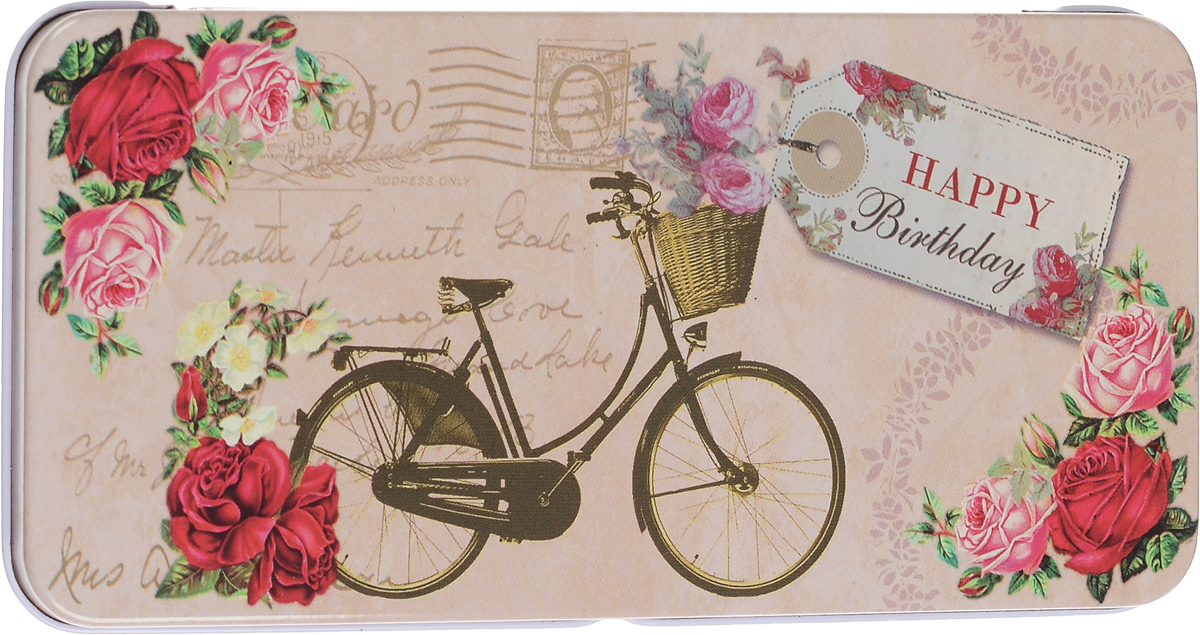 Коробка подарочная Феникс-Презент Велосипед, 16,6 х 7,6 х 1 см43671Подарочная коробка Феникс-Презент Велосипед выполнена из черного окрашенного металла и украшена яркой картинкой, соответствующей событию, для которого предназначена. Подарочная коробка для денег - это наилучшее решение, если вы хотите порадовать ваших близких и создать праздничное настроение, ведь денежный подарок, преподнесенный в оригинальной коробке, всегда будет эффектным и запоминающимся.