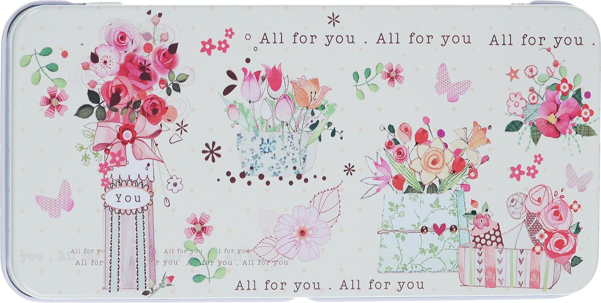 Коробка подарочная Феникс-Презент Цветы, 16,6 х 7,6 х 1 см43666Подарочная коробка Феникс-Презент Эффект бабочки выполнена из черного окрашенного металла и украшена яркой картинкой, соответствующей событию, для которого предназначена. Подарочная коробка для денег - это наилучшее решение, если вы хотите порадовать ваших близких и создать праздничное настроение, ведь денежный подарок, преподнесенный в оригинальной коробке, всегда будет эффектным и запоминающимся.