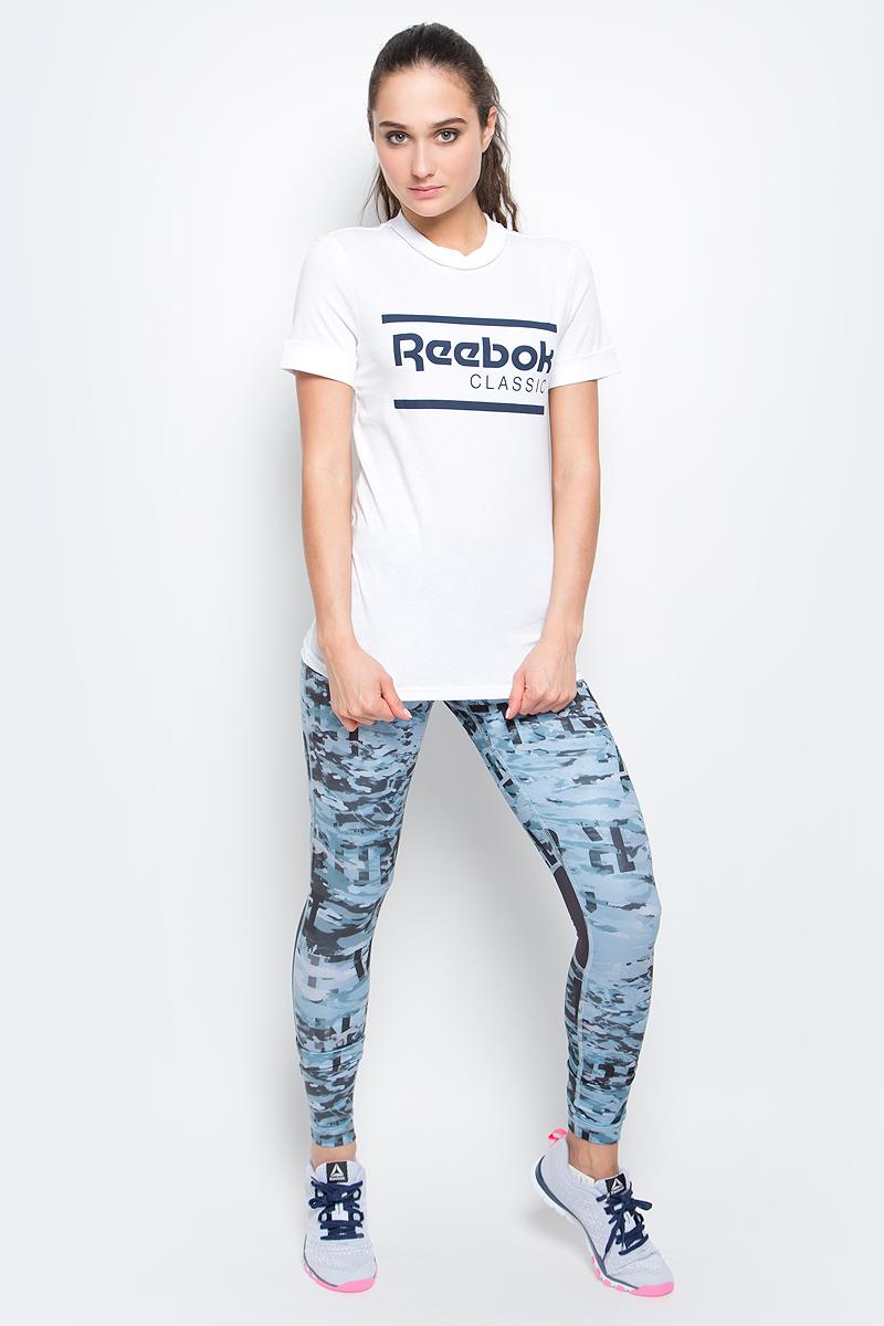Футболка женская Reebok F Iconic Reebok Gr Tee цвет белый BK4144 Размер L 5052